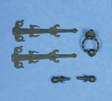 Ornate Door Furniture Set - unpainted