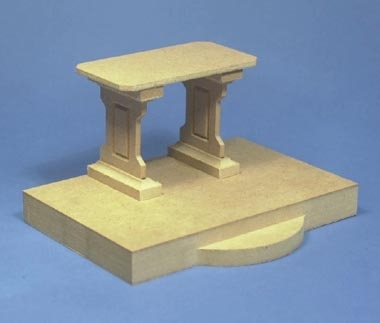 Church Altar on Raised Platform Kit