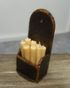 Candle Box with Candles (Dark Oak finish)