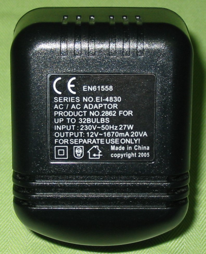 12 volt Transformer for upto 32 bulbs