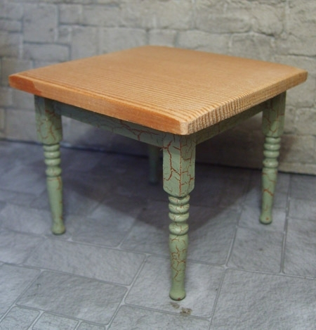 Crackle Effect Square Table - green