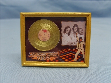Framed Gold Disc - Bee Gees - Saturday Night Fever