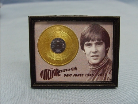 Framed Gold Disc - The Monkees - Davy Jones  1945 - 2012