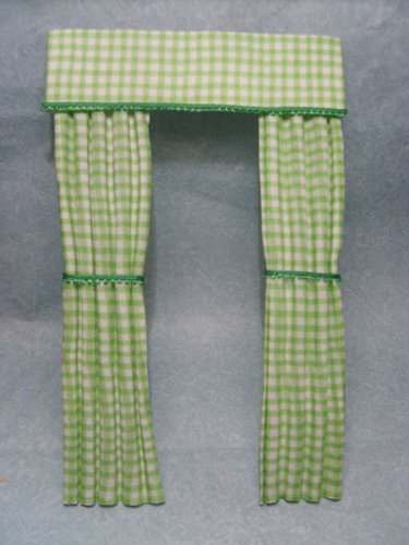 Green Gingham Curtains