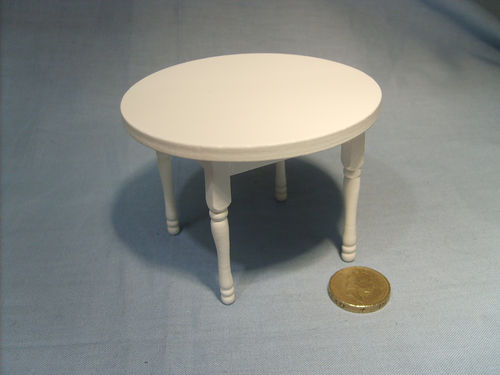 Round Kitchen Table - White