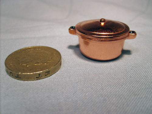 Copper Casserole with Lid