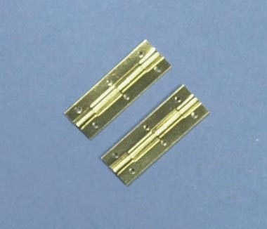 "A pair of 1"" Brass Hinges - Pin Fixing"