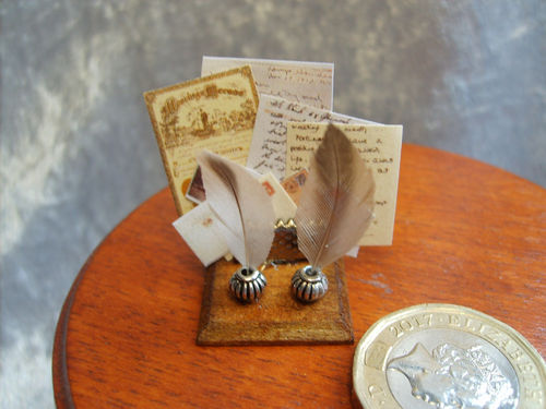 Quills, Inkpots and Letter Rack