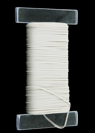 50ft Twin White Wire