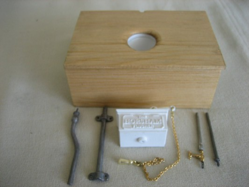 Handcrafted Miniature - Outside Toilet Kit