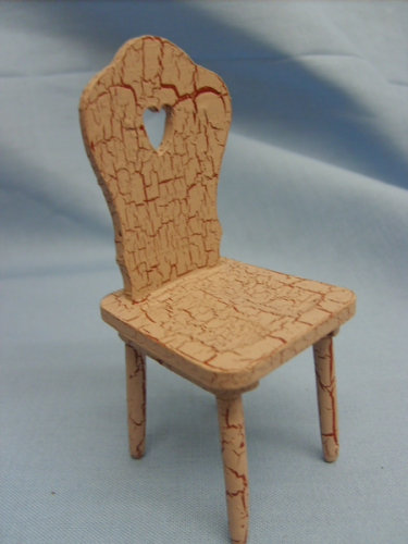 Chair - Crackle effect biege