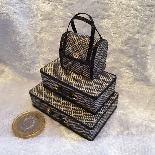 Luggage Set Grey & Black