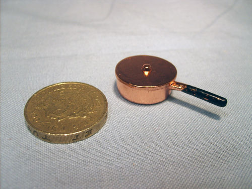 Copper Pan with lid - shallow