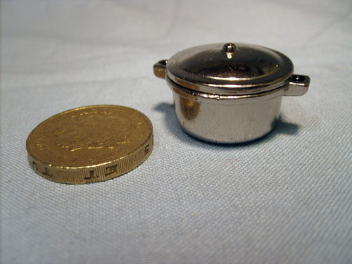 Chrome Casserole with Lid