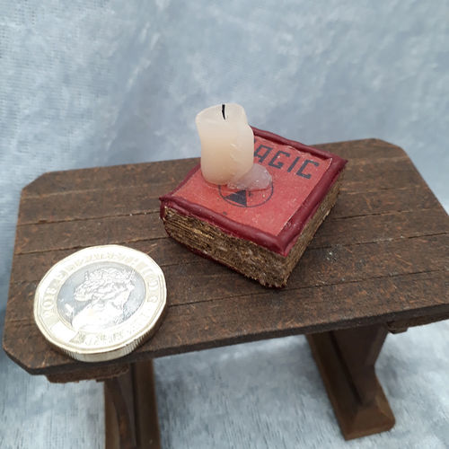 Book with Melting Candle 4