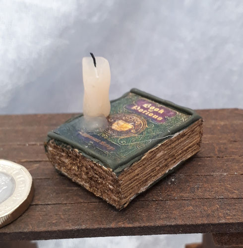 Book with Melting Candle 6
