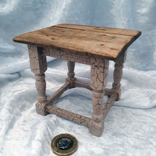 Rustic Crackle Table