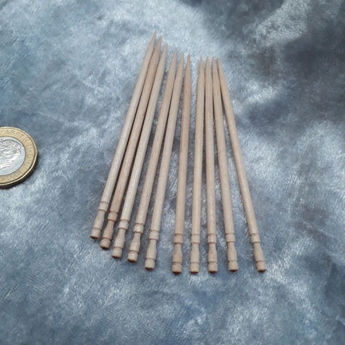 10 x Turned and Pointed Cocktail Sticks