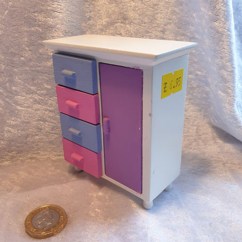 Cupboard and Drawers - coloured