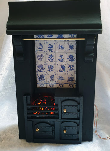 Fireplace with Cooking Range