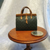Carpet Bag with Leather Trim 11