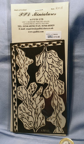 Etched brass Creeper Vines